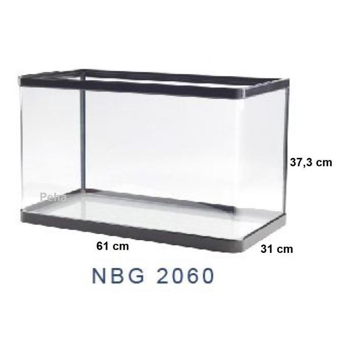 Best Seller] Aquarium Ikan - Akuarium Nisso Jepang Manta - Kaca Lengkung Nbg 2060