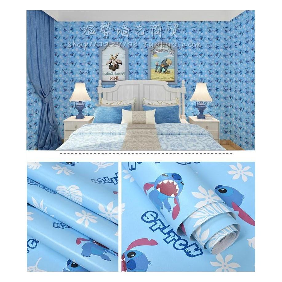 Wps029 Wallpaper Dinding Stiker Lil Stitch 45cm X 10m Shopee Indonesia