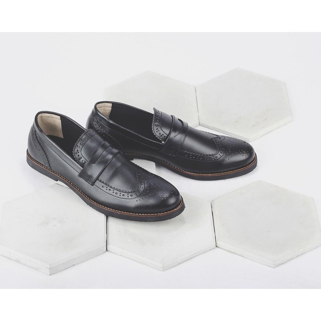 Sepatu Pantofel Toods Derby Longwing Black Footwear Kulit Formal Kerja Shopee Indonesia