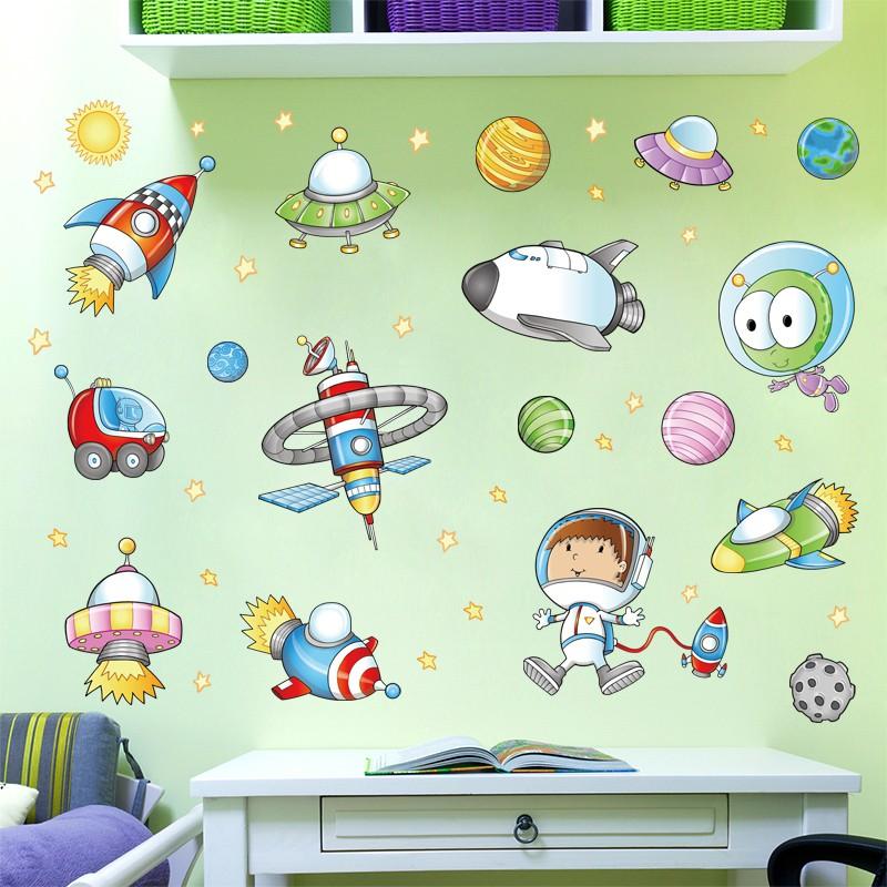 Bahan Gambar Anak Tk Ruang Tamu Kartun Ruang Astronot Stiker Dinding Kamar Anak Anak Tk Ruang Tamu Kamar Tidur Ruang Kelas Dekorasi Shopee Indonesia
