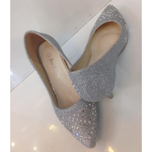 Silver Diamond Heels
