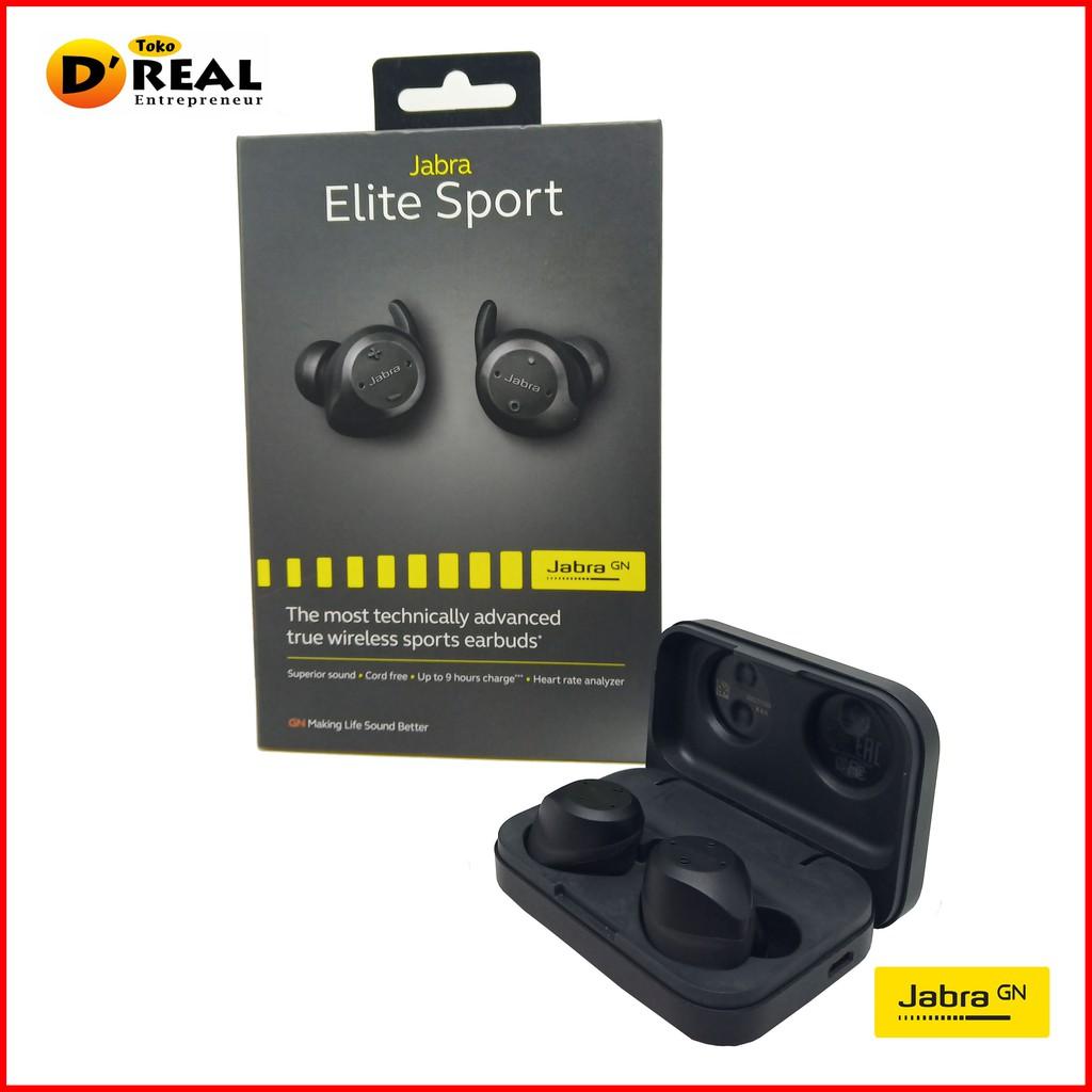 Headset Earphone Handsfree Bluetooth JABRA ELITE SPORT ORIGINAL