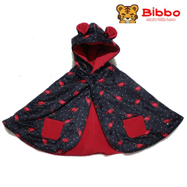 Babycape Bibbo - Black Twities - Jaket Bayi Selimut Bayi Multifungsi Baby Cape