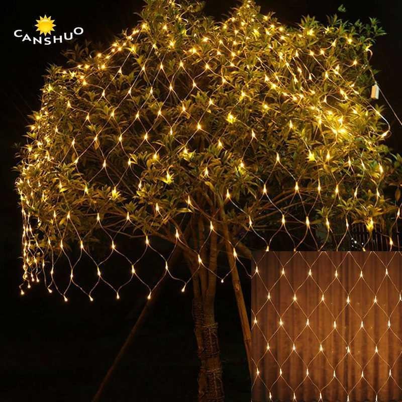 Lampu Hias Dekorasi Pohon Taman Dinding Model Jaring 3x2 M Shopee Indonesia