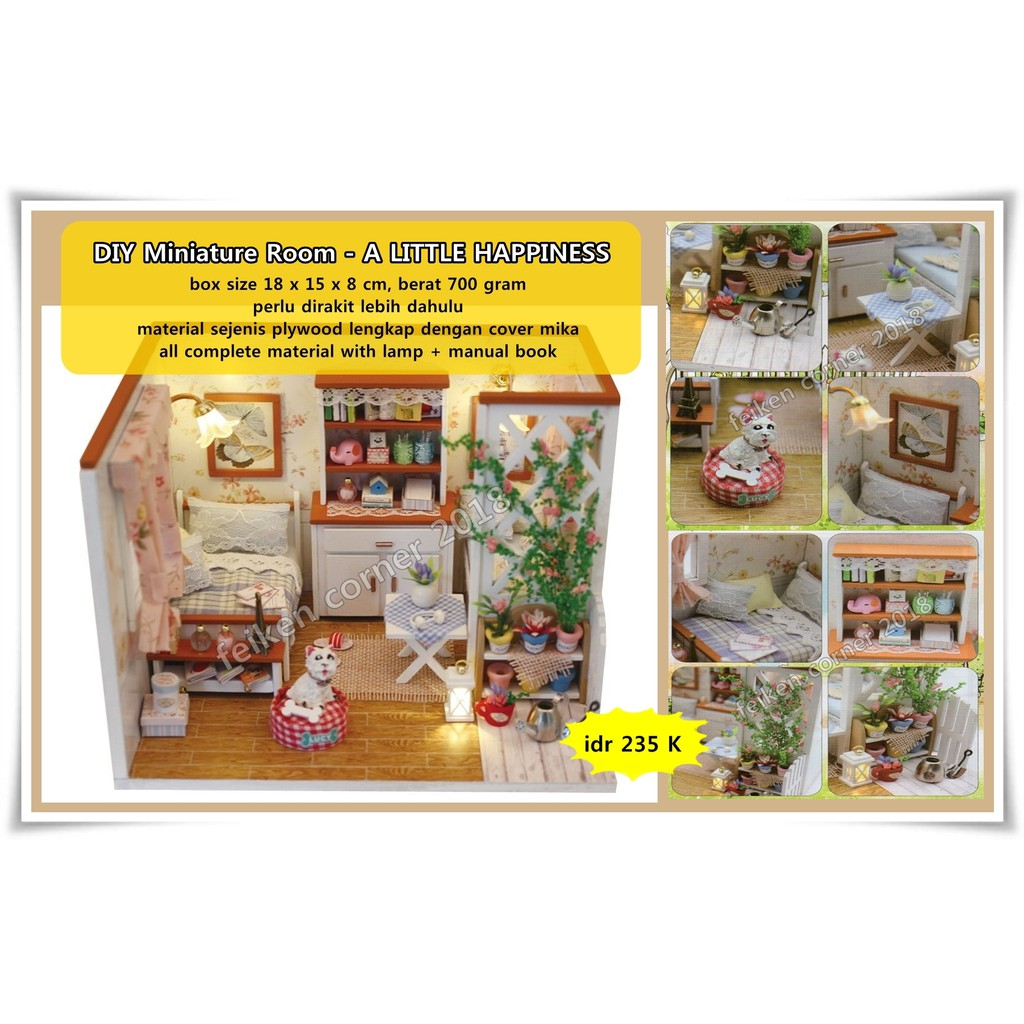 DIY M026 Wooden Dollhouse Because Of You Miniature  ba2d84f663