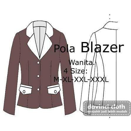 Pola Blazer Wanita Shopee Indonesia