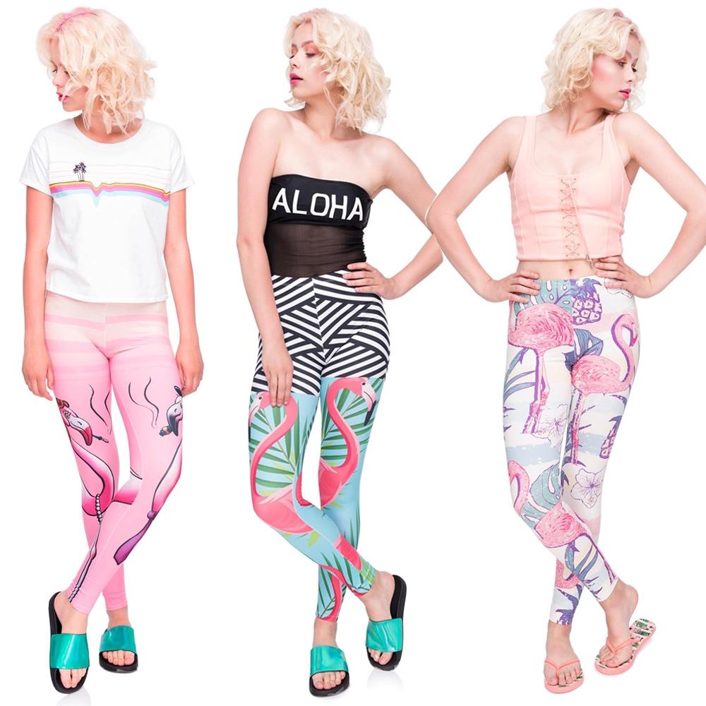 Celana Legging Panjang Wanita Model Casual Motif Flamingo Untuk Yoga Shopee Indonesia