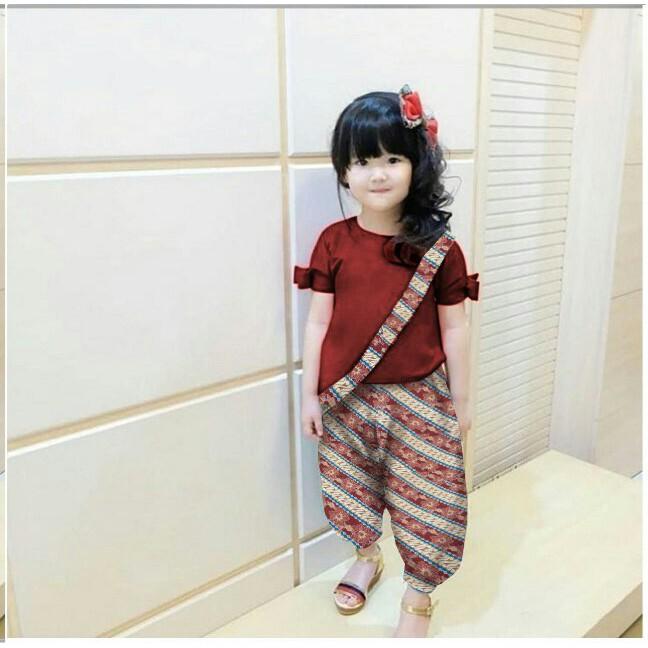 DE31 Setelan Batik Anak Cewek Namaza 3-5THN DR / Jual Pakaian Anak Murah / Best Seller Baju Anak   Shopee Indonesia