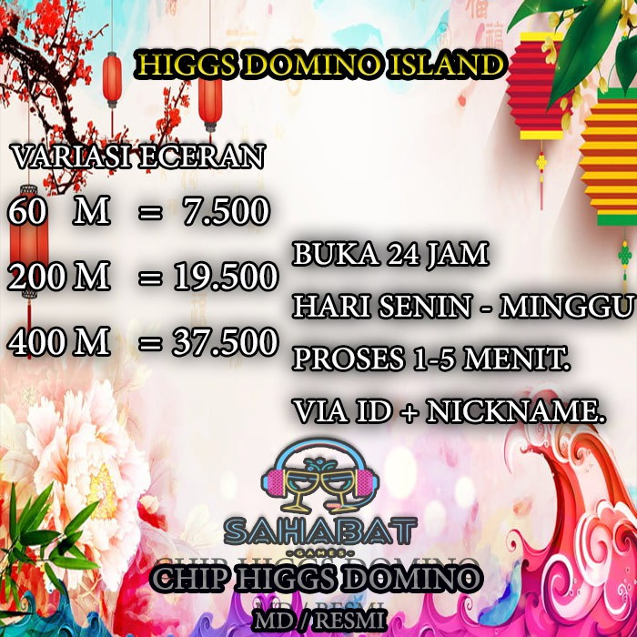 PROMO BESAR COIN CHIP HIGGS DOMINO ISLAND TERMURAH - CHIP DOMINO - DOMINO HIGGS - MD RESMI