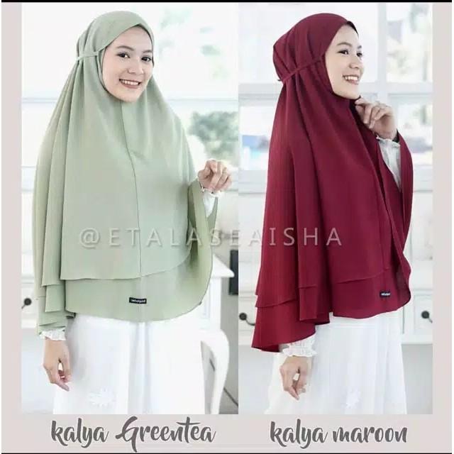 Bergo Maryam 2 Layer Jumbo Bergo Tali Khimar Jumbo Hijab Instan Shopee Indonesia
