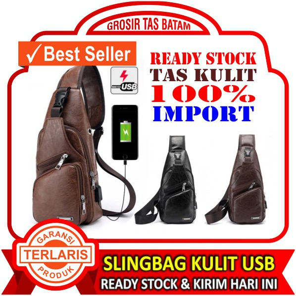 Tas Kulit Asli import Kerja Kantor Pria FULL CRAZY HORSE Cowok Premium Real  Leather Laptop Slempang  0761e0c196