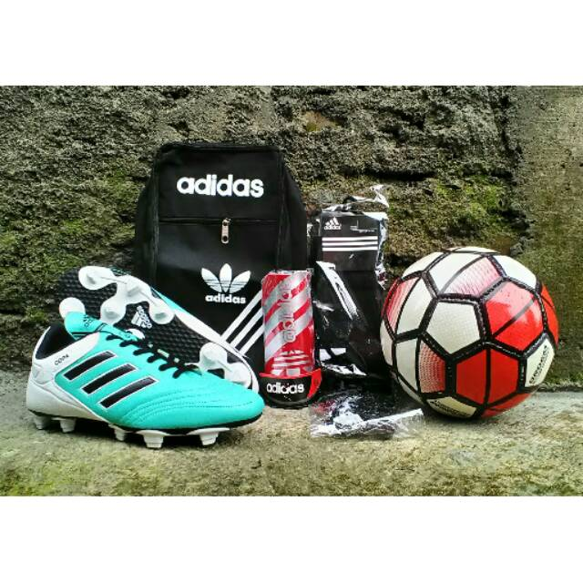 Paket Komplit Sepatu Bola Adidas Copa Mundial Original Bonus Bola