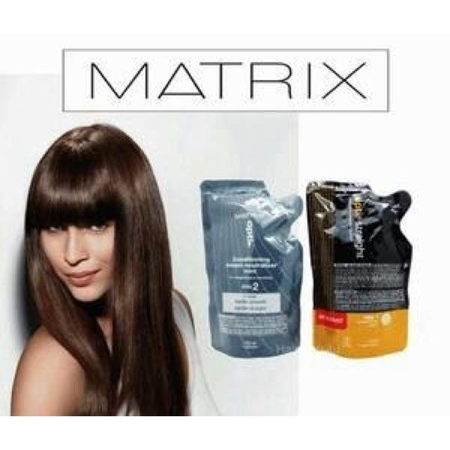 MATRIX Opti Straight Normal / Resistant Sachet | Obat Bonding | Rebonding | Pelurus Rambut