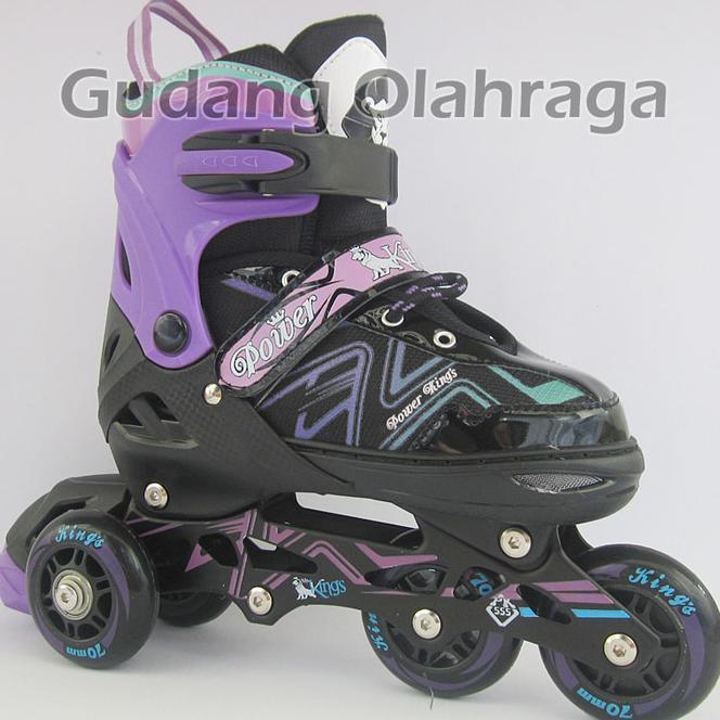 Promo Murah Sepatu Roda BAJAJ Ban KARET   Inline Skate PU Wheels Anak dan  Dewasa Terlaris f6ac27ea19