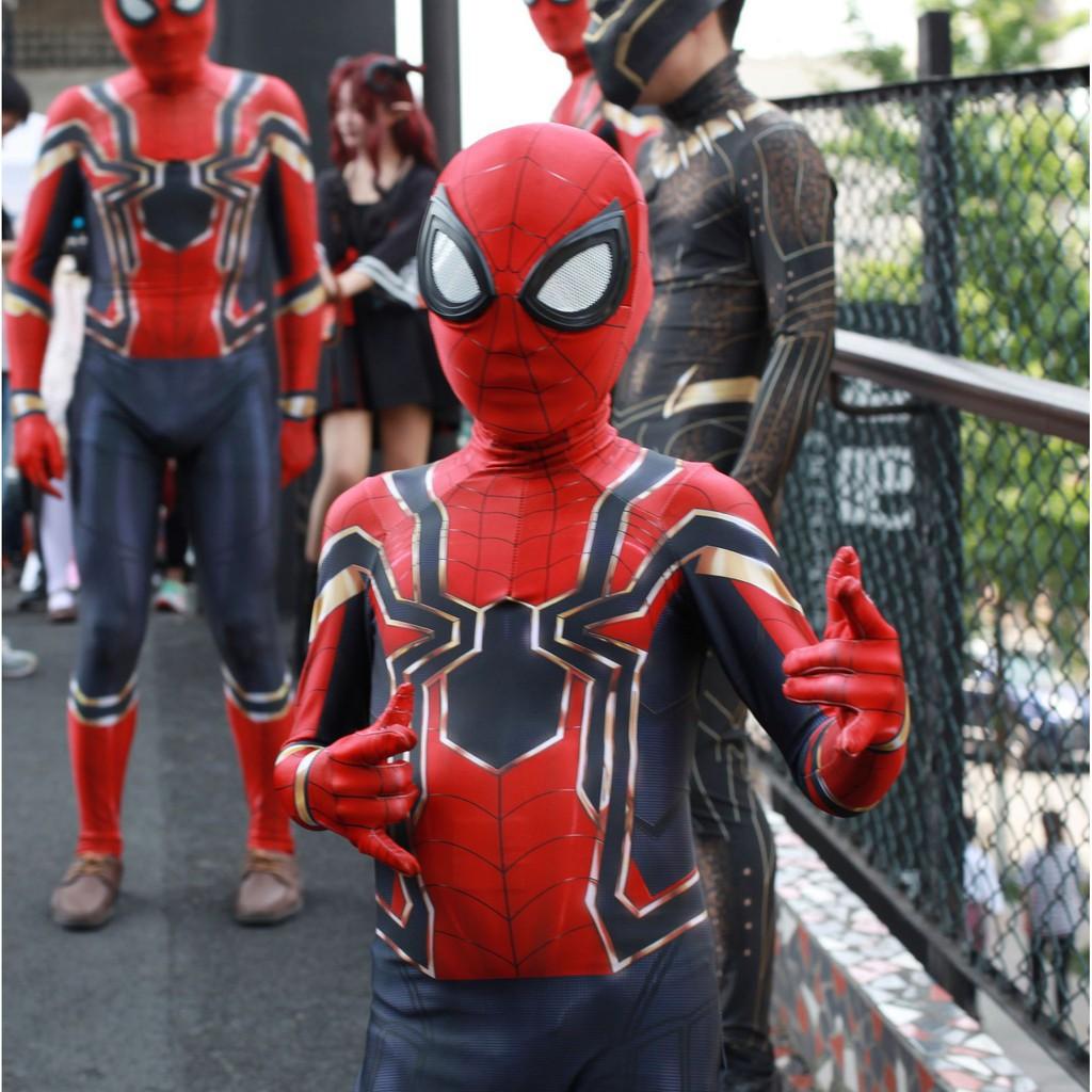 Set Kostum Model Spiderman 3d Bahan Spandex Untuk Cosplay Shopee