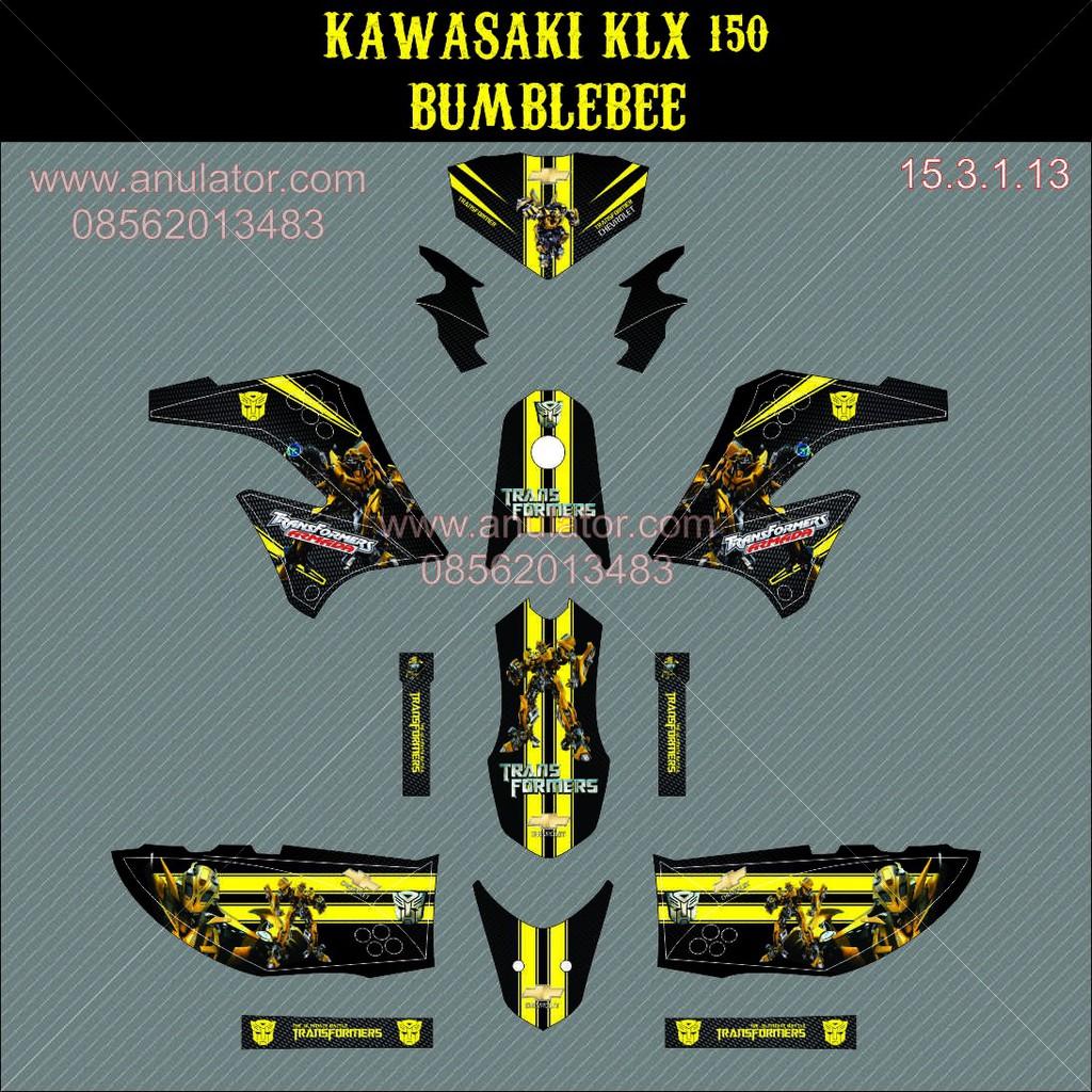 Sticker Striping Motor Stiker Kawasaki Klx D Tracker 03 Spec A Harga Tiang Rem C70 Gl Force 1 Grand Promo Kualitas Dijamin Oke Shopee Indonesia