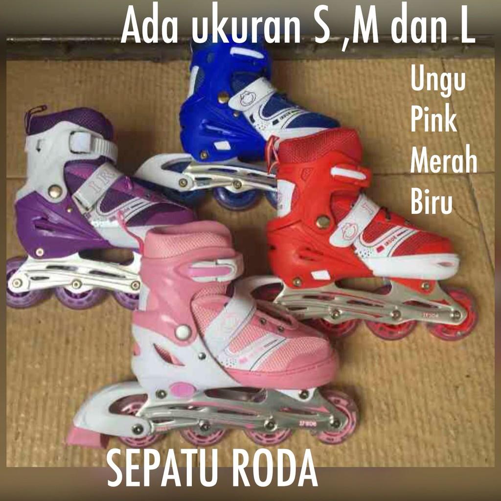 SPECIAL- Sepatu Roda Bajaj   Sepatu roda inline bajaj Power line Pink 2aa712f09f