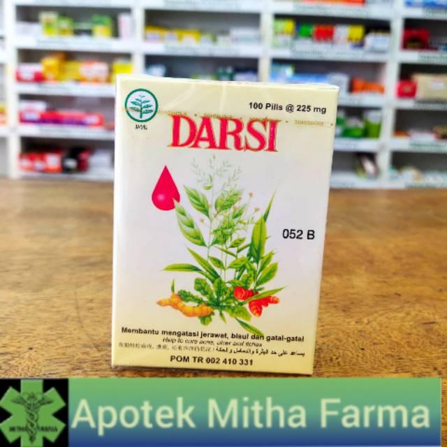 DARSI 100 PIL HERBAL ALAMI OBAT JERAWAT | Shopee Indonesia