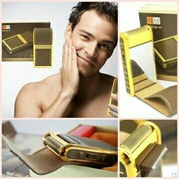 Yandou Alat Cukur Jenggot   Kumis Elektrik Portable Klasik Bisa Dicharge  4385b4808d