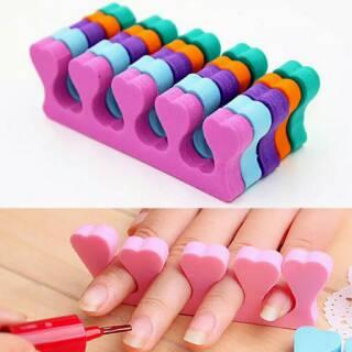 Pemisah jari nail art alat manicure finger toe separator thumbnail