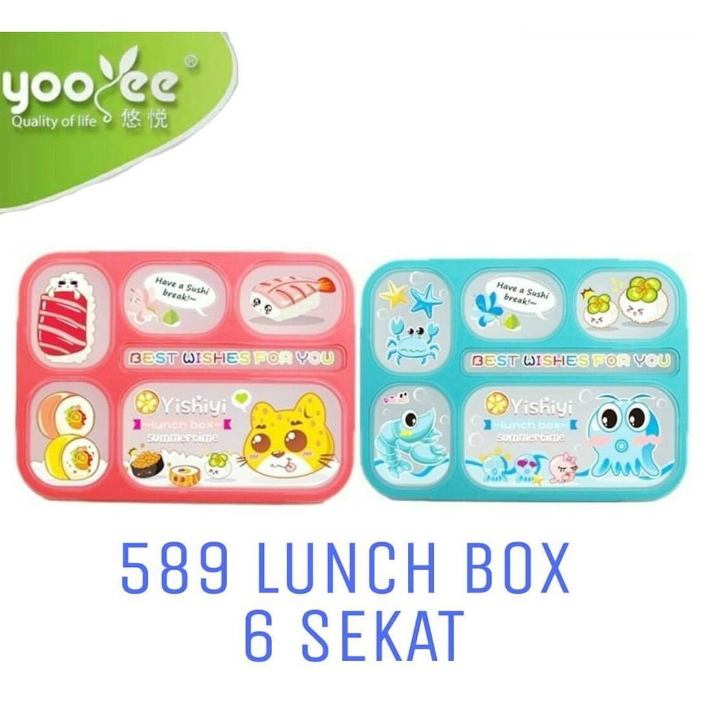 Yooyee Mini Leak Proof Grid Lunch Box Sekat 3 Kotak Makan Anti Leakproof 578 Bocor Tosca Tumpah 606 Shopee Indonesia