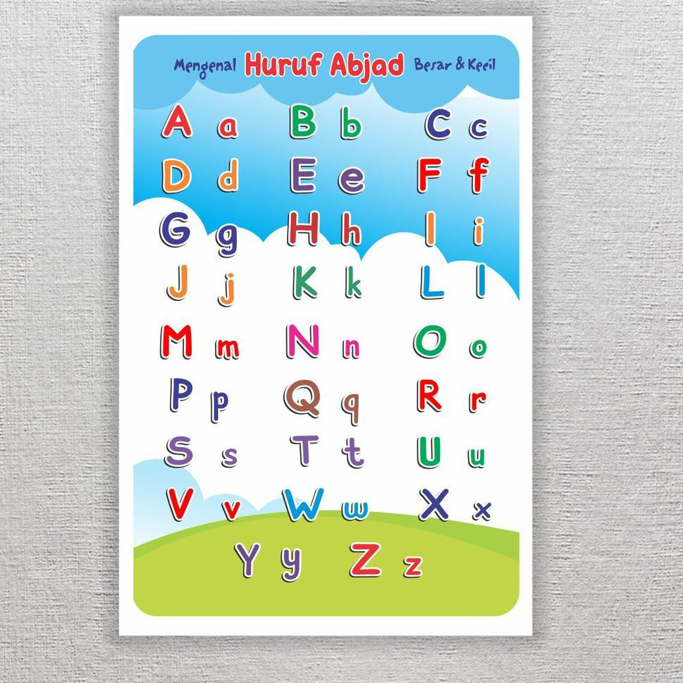 Today Poster Belajar Anak Tk Paud Mengenal Huruf Abjad Alfabet Besar Kecil Media Main Shopee Indonesia