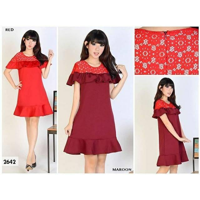 870 Fashion Baju Outfit Pakaian Atasan Dress Casual Maxy Lengan