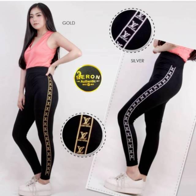 Legging Motif Lengging Gliter Legging Lv Leging Lv Leging Wanita Legging Dewasa Import Bangkok Shopee Indonesia