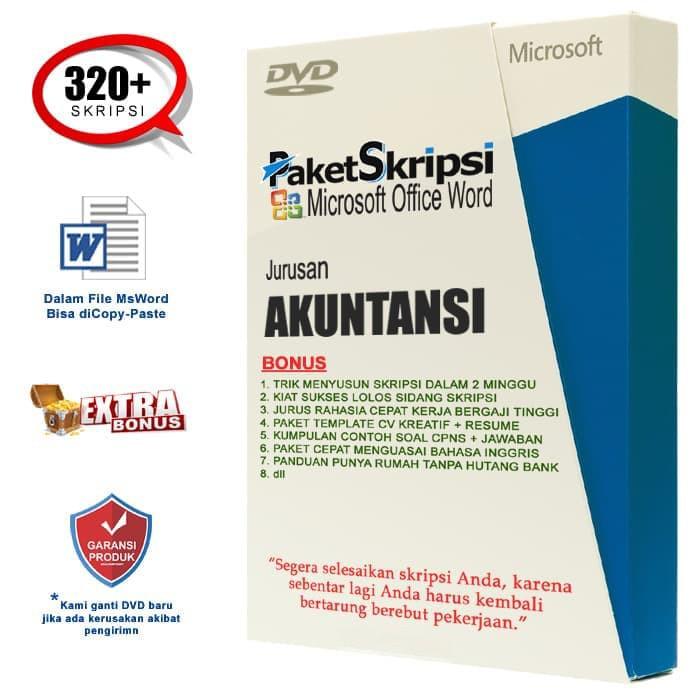 Kumpulan Skripsi Akuntansi Sudah Dalam Bentuk File Microsoft Word
