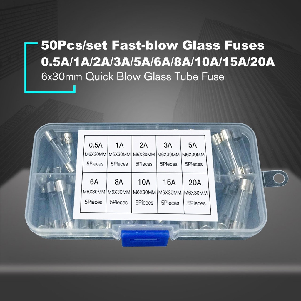 6x30mm Quick//Fast Blow Fuses and fuse holders Many types available PACK OF 2