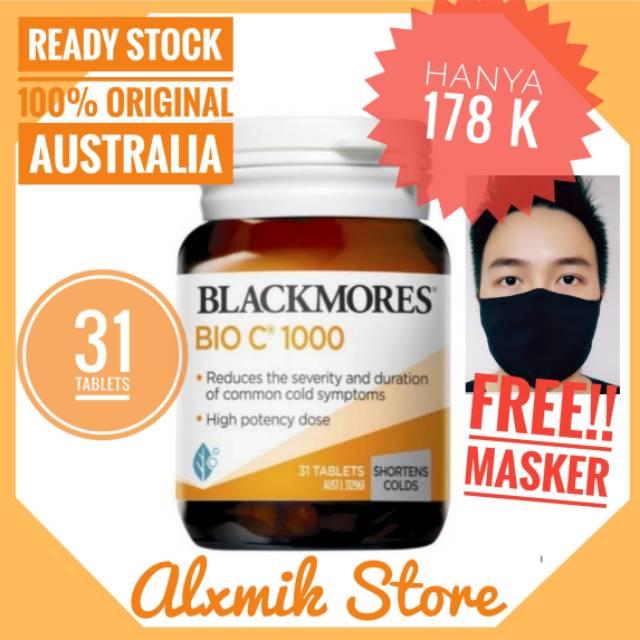 Ready Blackmores Bio C 1000 Mg 31 Tablets Vitamin C 1000mg 30 90 150 Original Australia Shopee Indonesia