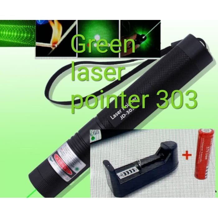 Burning Laser 303 Green Laser Pointer+Light Star Cap 532nm 5mw | Shopee Indonesia