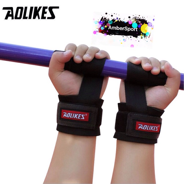 1Pair Power weight lifting training bar straps gym hand wrist support crossfitFE