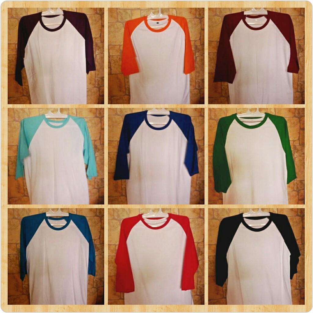 Ramayana Ar89 Kaos Tshirt Raglan 3 4 Ae Superior Brand Putih Hitam M Shopee Indonesia