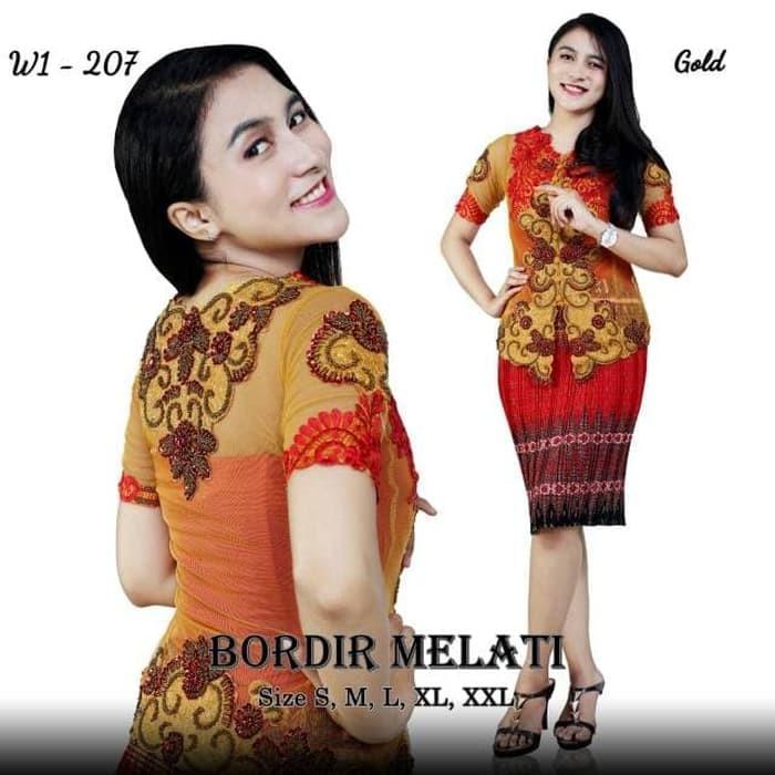 Original Real Pict Kebaya Modern Kebaya Wisuda Kebaya Organza Premium Peach Classic Mewah Jf I 65569