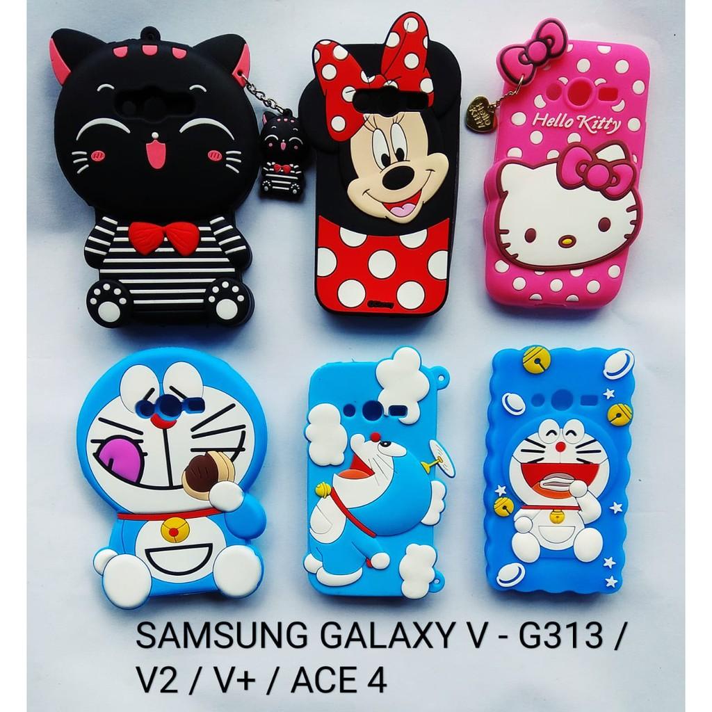SAMSUNG GALAXY V - ACE 4 - V+ - V2    CASE BONEKA 3D SOFT  9a3ec9808f