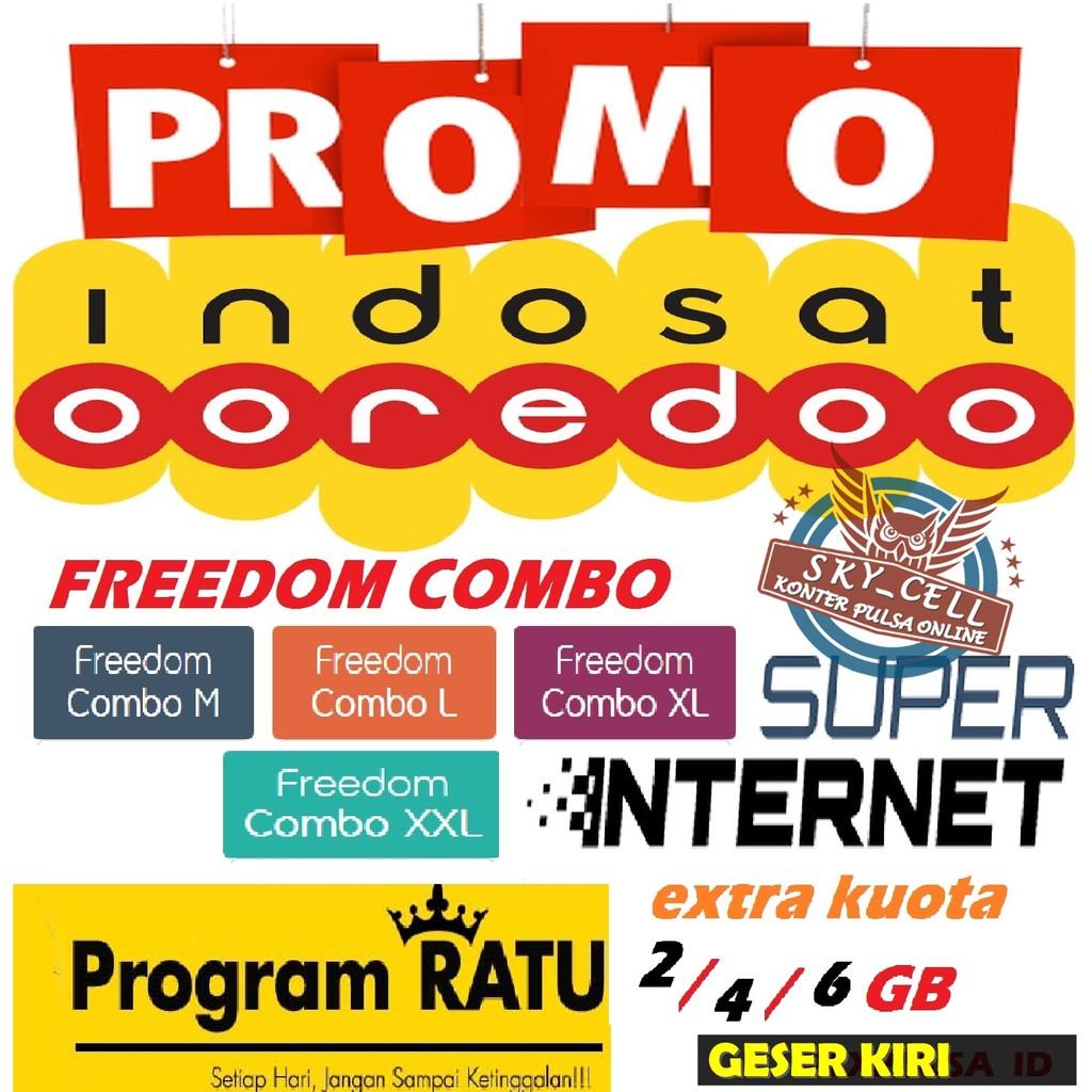 Inject Voucher Kuota Indosat 1gb 2gb 3gb 5gb 7gb 9gb 10gb 15gb Im3 Unlimited Freedom Combo M L Xl Shopee Indonesia