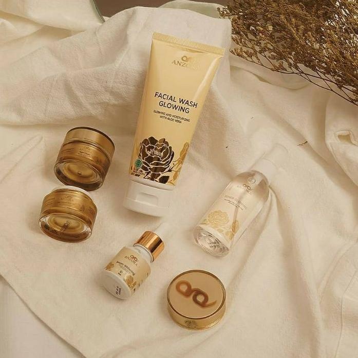 ♛DISKON-GEDE♛ FREE ONGKIR Anzora glow Anzora acne skincare anzora | night cream anzora | day cream a