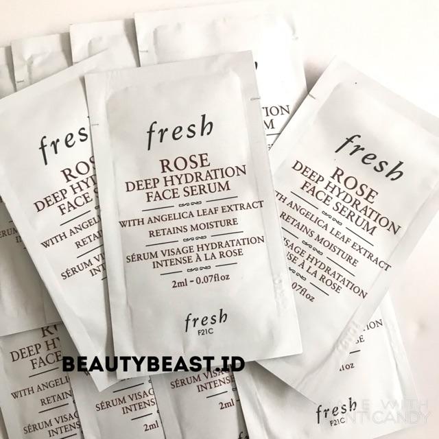 [ORI & READY STOCK] Fresh Rose Deep Hydration Face Serum Travel Size