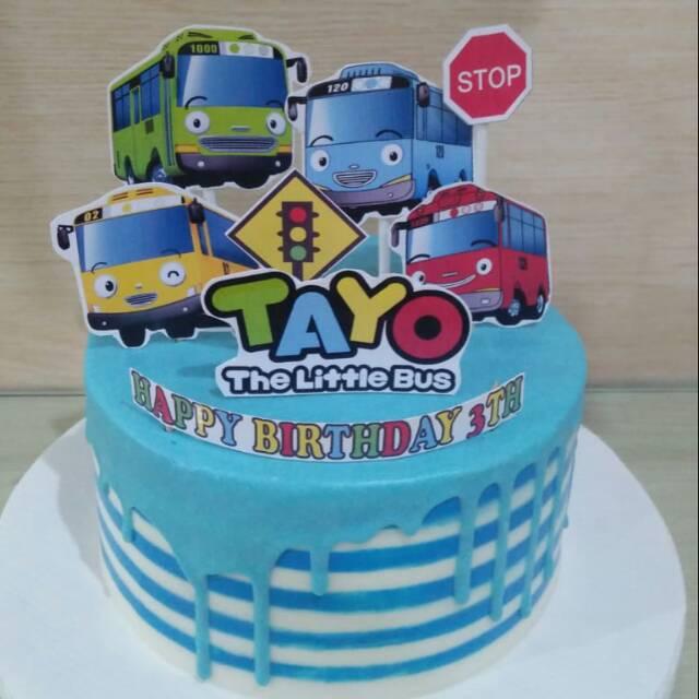 Tart Karakter Kue Ulang Tahun Birthday Cake Tayo Shopee Indonesia