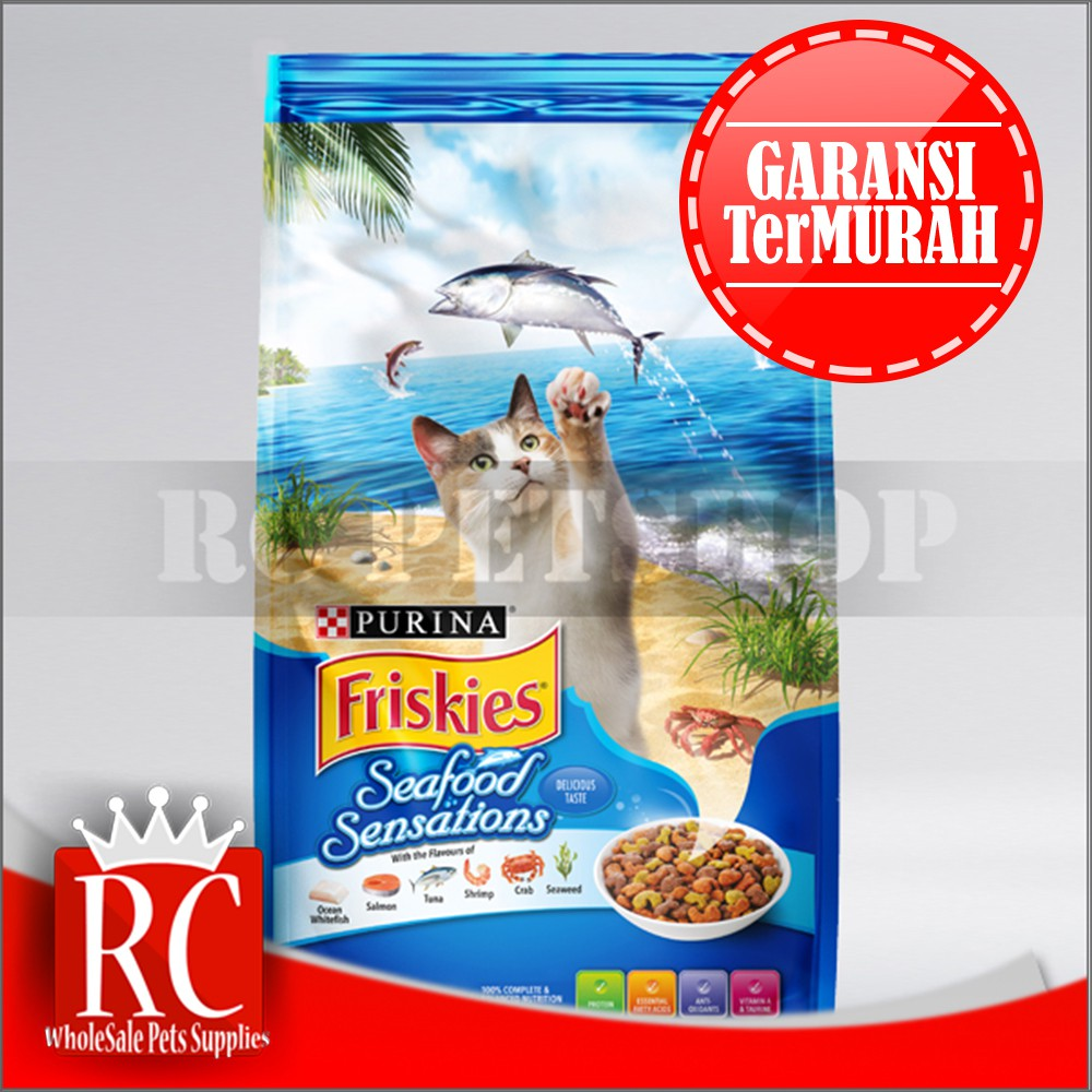 Friskies Seafood Sensations 12kg 3 Wet Pouch Random 1 Party All Varian 80gr Mix Multi Storage Shopee Indonesia