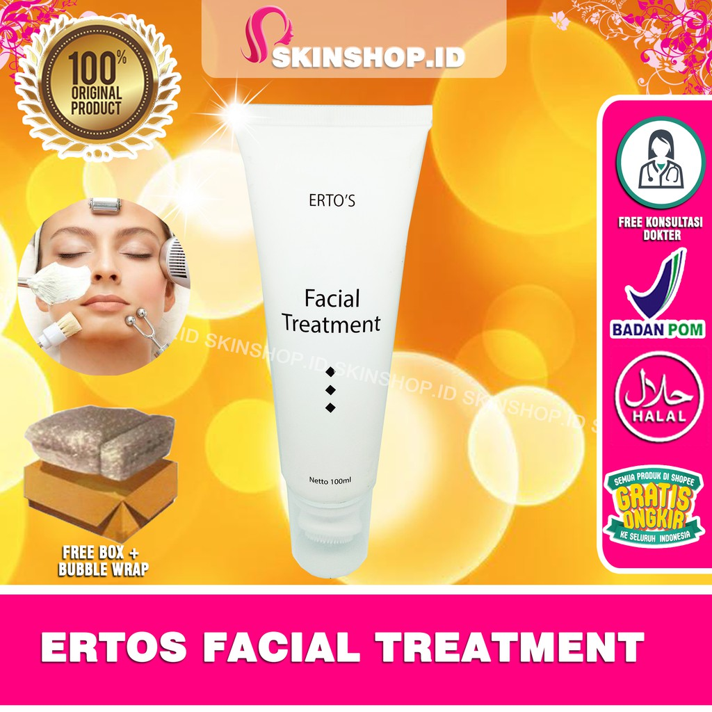 Ertos Facial Treatment Original Shopee Indonesia Facian
