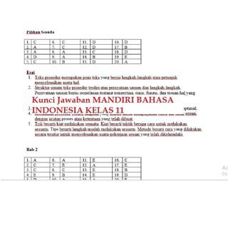 Baru Buku Mandiri Bahasa Indonesia Sma Kelas 11 K13 Soal Jawaban Kurtilas Shopee Indonesia