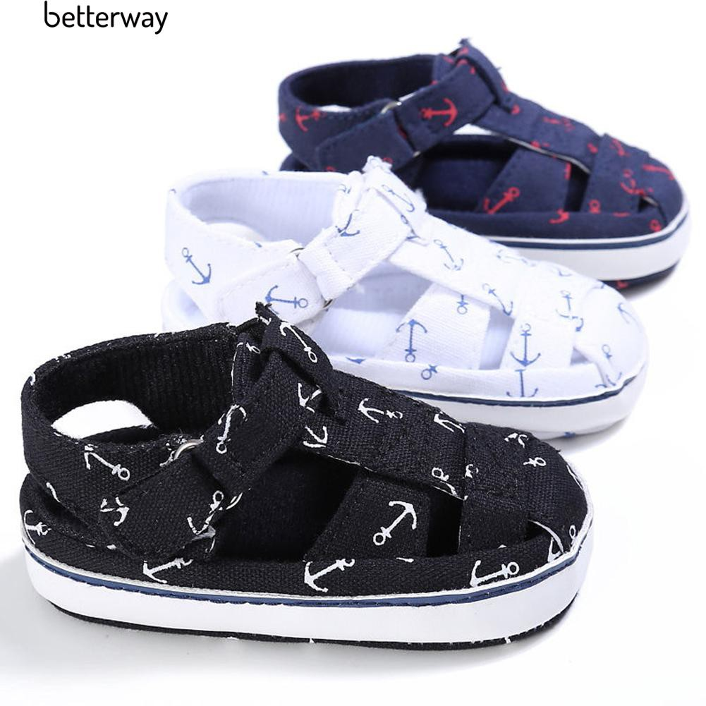 Better Bayi Bayi Anak Laki-laki Perempuan Anti-selip Lembut Sole Crib Balita Sandal Sepatu