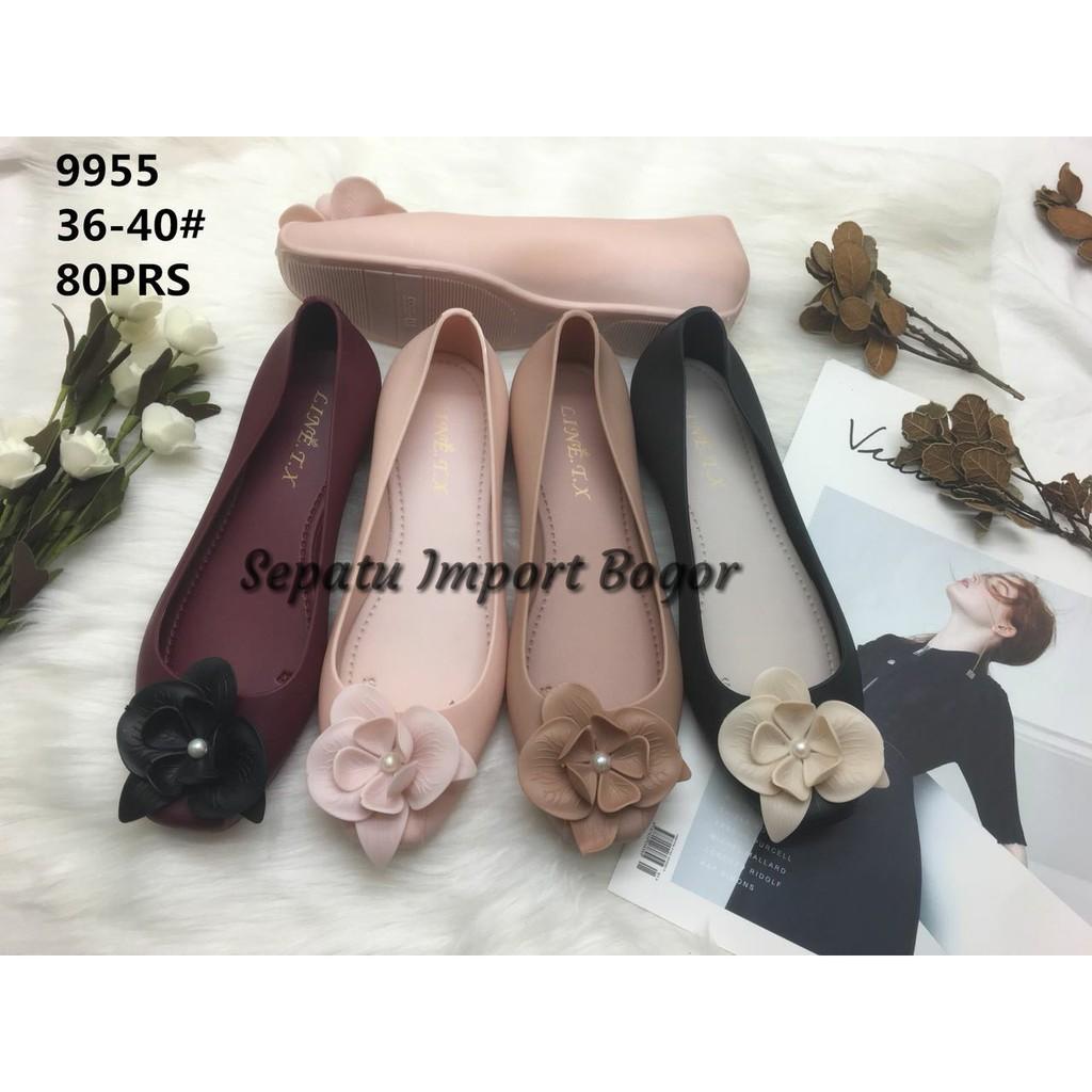 Barang Berkualitas Sepatuafa - Flat Shoes Sepatu Teplek Mika Pita Satin  SP25 - Fanta ON SALE  c2e5eadf61