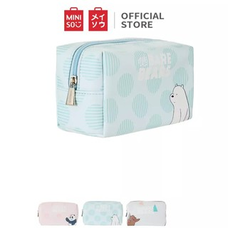 Miniso Official Tas kosmetic We Bare Bears-Rectangle Cosmetic Bag
