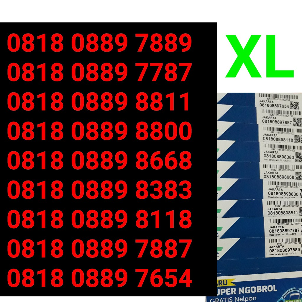 Kartu perdana XL 4G super ngobrol abab aabb nomor nomer cantik XL 4G murah   Shopee