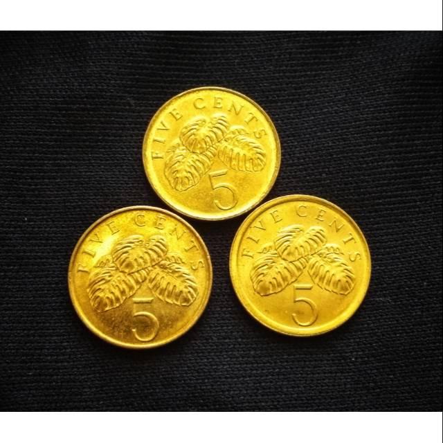 Koin asing Singapura 5 Cent
