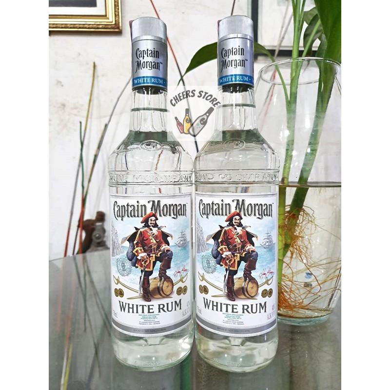 ORIGINAL ASLI AUTHENTIC ORI RESMI BPOM Captain Morgan White Putih Silver  Blanca Rum Rhum 750ml | Shopee Indonesia