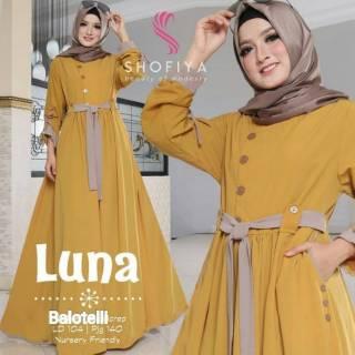 Luna Maxy   Gamis Hijab Murah Wanita   Maxy Harga Grosir   Dress Pakaian  Online Termurah f80f1e6908